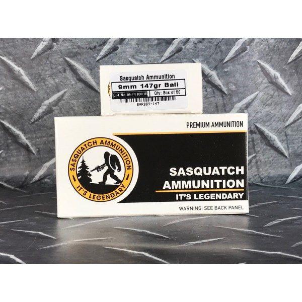Silent Sasquatch Ammunition 9mm 147gr Subsonic New Brass - 50 Round box -  Flat rate shipping!